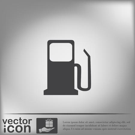 refuel: gas station. symbol gas station . Gasoline and fuel. Illustration