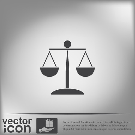 justice: scales of justice icon. symbol of justice Illustration