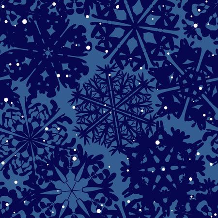 schneeflocke: Schneeflocke-Muster. Schneeflocke Vektor-Textur. Weihnachten und Neujahr-Konzept Illustration