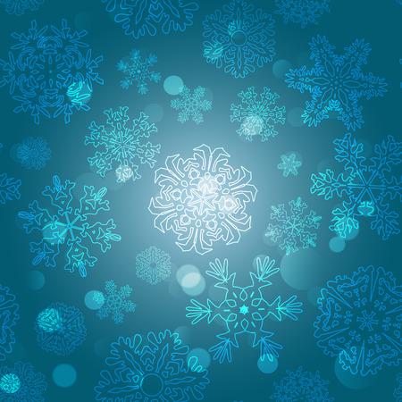 copo de nieve: Patr�n de copo de nieve. Copo de nieve del vector textura. Navidad y a�o nuevo concepto