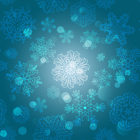 snowflake: Snowflake Pattern. Snowflake vector texture. Christmas and new year concept Illustration