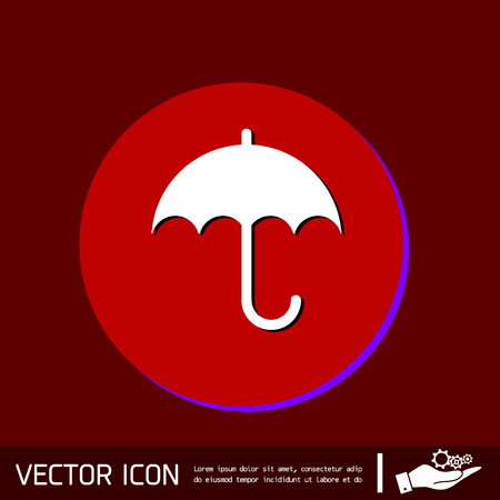 fall protection: umbrella icon. protection from rain and moisture Illustration