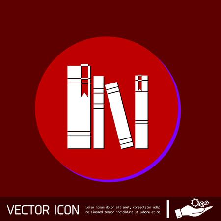 espina dorsal: lomo del libro, lomo de los libros. Símbolo del icono de la ciencia y la literatura