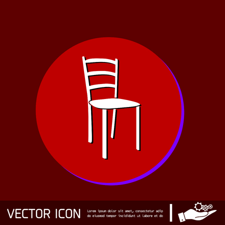 a chair: chair icon. symbol furniture. icon home interior