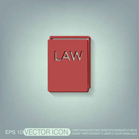 law book: law book icon. set of laws. symbol of justice