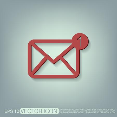 postal: postal envelope sign. e-mail symbol . icon envelope. Illustration