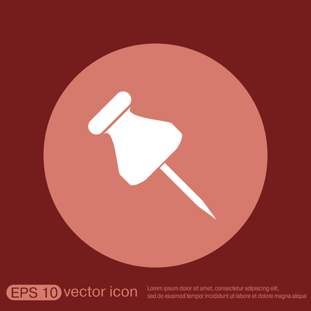 fastener: pin for papers sign. symbol icon office supplies