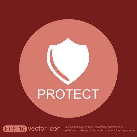 escudo: escudo, un símbolo de protección. proteger Vectores