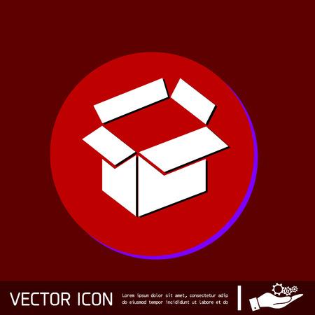 package sending: Opened cardboard box  icon Illustration