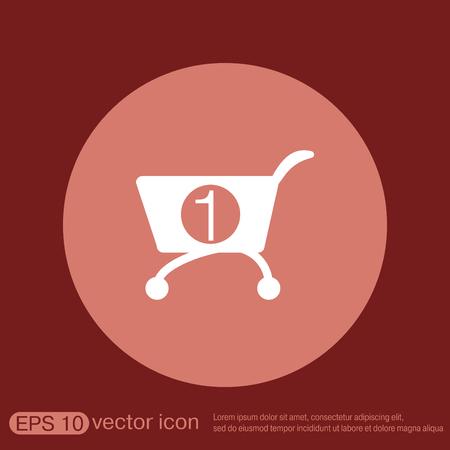 internet shop: shopping cart icon. vextor illustration. cart online store, Internet shop. basket shopping
