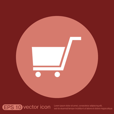 the basket: shopping cart icon. vextor illustration. cart online store, Internet shop. basket shopping