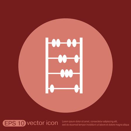 math icon: old retro abacus icon. math sign