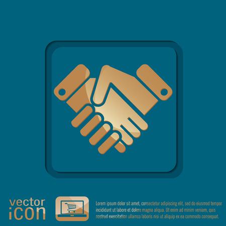 shaking hands: shaking hands icon, handshake. business and finance symbol