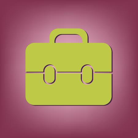 packing suitcase: briefcase symbol Vettoriali