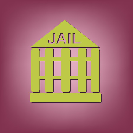 jail: jail prison icon. symbol of justice. police icon