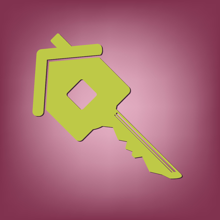 real estate house: key in the house. real estate icon. home sign Illustration