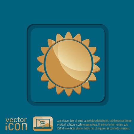 słońce: weather icon. sun
