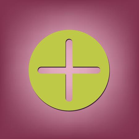 plus sign: Plus sign icon. Positive symbol.