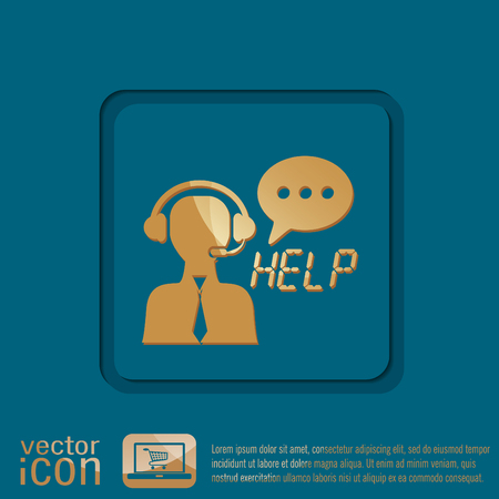 customer support: customer support avatar Illustration