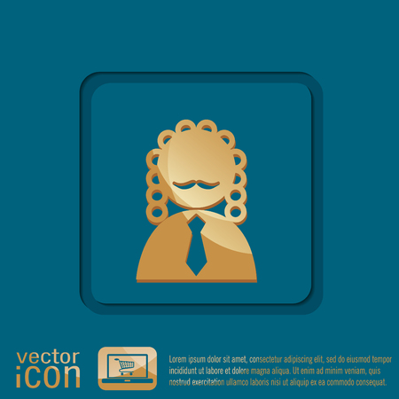 juridical: judge icon avatar. symbol of justice