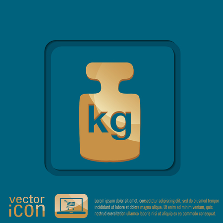 calibration: weight icon, symbol denoting a measure of weight