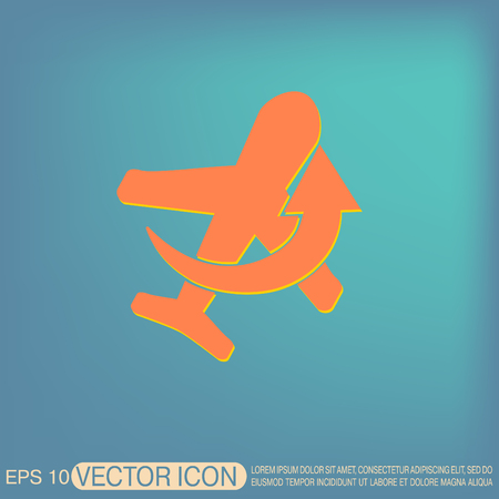 air travel: airplane symbol . icon of air travel