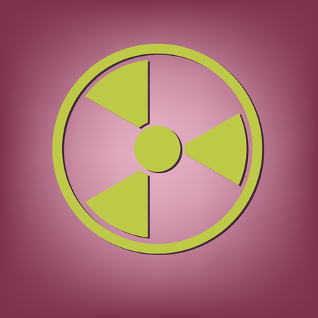 radioactivity: nuclear danger icon Illustration