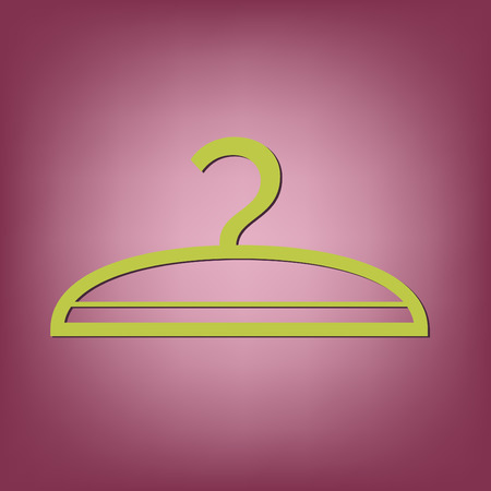hangers: hanger sign. symbol and fashion icon hangers