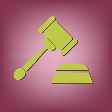 justicia: martillo. ley icono. s�mbolo de la justicia y el juicio