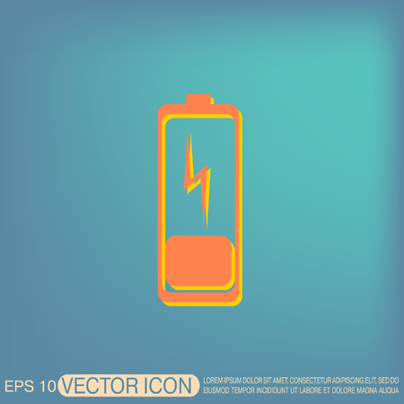 ampere: discharged battery. symbol a discharged battery. icon energy