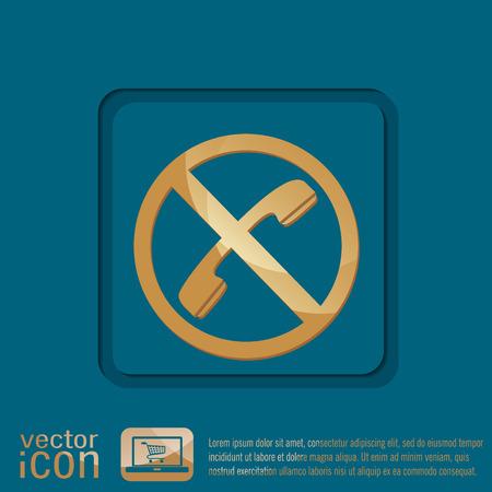 forbidding: forbidden to use phone. forbidding symbol