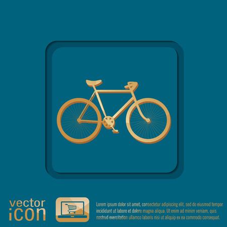 single seat: retro bicycle icon
