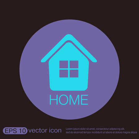 home icon: House icon. Home sign