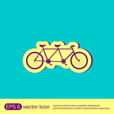 retro: retro bicycle icon