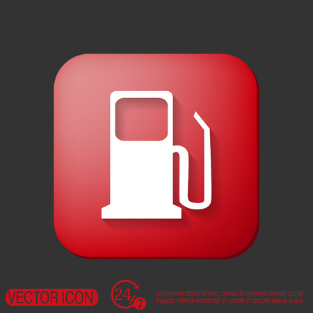 gas station: gas station. symbol gas station . Gasoline and fuel. Illustration