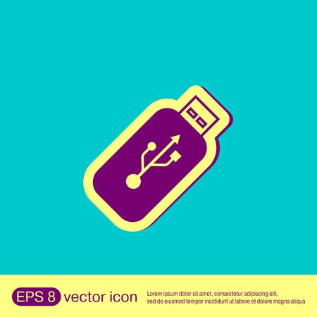 usb disk: usb flash icon disk. vector icon Illustration