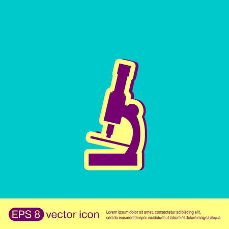 enlarged: microscope sign. symbol icon studying biology or medicine . enlarged image