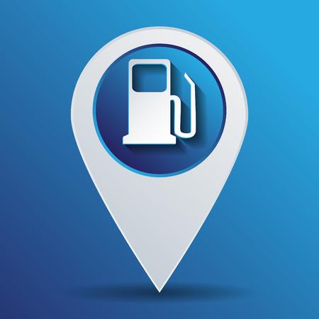 Tankstelle. Symbol Tankstelle. Benzin und Treibstoff. Illustration