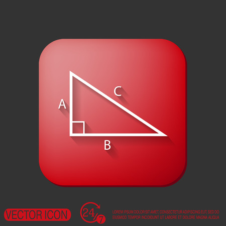 math icon: triangle math icon. symbol icon geometry. learning math