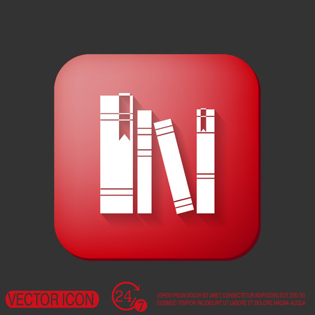 spine: book spine, spines of books. icon symbol of a science and literature Illustration