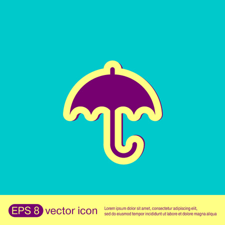 moisture: umbrella icon. protection from rain and moisture Illustration