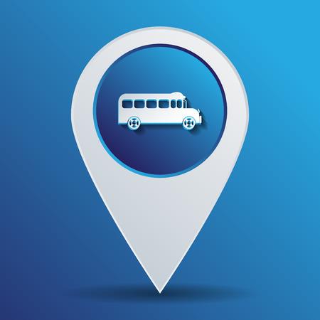 student travel: School bus. Symbol study. Icon transport