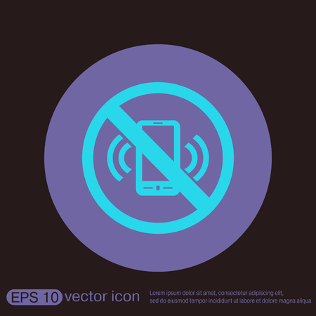 forbidden: forbidden to use phone. forbidding symbol