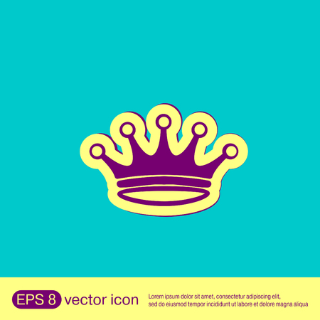 royal person: crown icon Illustration