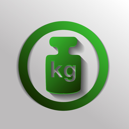 weight icon, symbol denoting a measure of weight