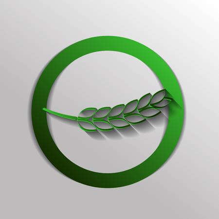 spike: wheat spike ears icon