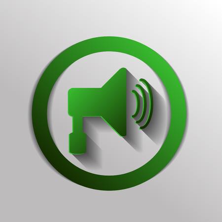 urgent announcement: loudspeaker sign. Volume icon . sound icon Illustration