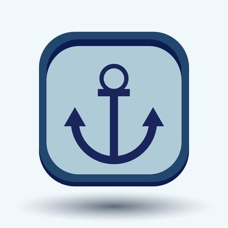 anchored: Nautical Anchor vector. anchor seafaring character. icon marine instrument Illustration