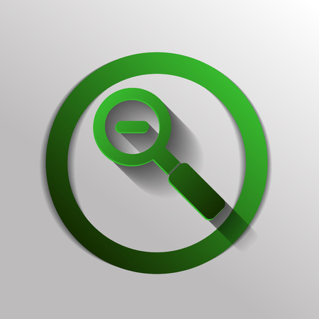 computer button: magnifier reduction