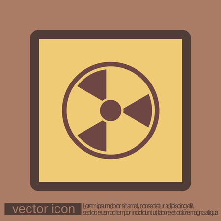 nuclear safety: nuclear danger icon Illustration